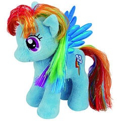 Plus Licenta My Little Pony, Rainbow Dash (18 Cm) - Ty