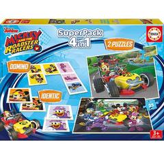 Educa Puzzle 4 in 1 The SuperPack Mickey and the Roadster Racer 2 x 25 Piese