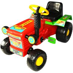 Super Plastic Toys Tractor cu pedale Turbo red