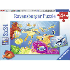 Puzzle Acvatic, 2x24 Piese