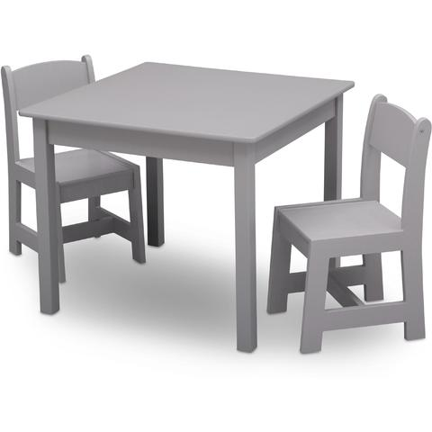Delta Children Set masuta si 2 scaunele Premium Grey