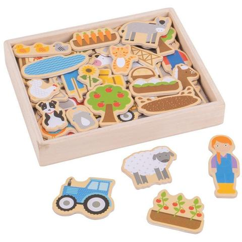 BigJigs Toys Set magnetic - Ferma