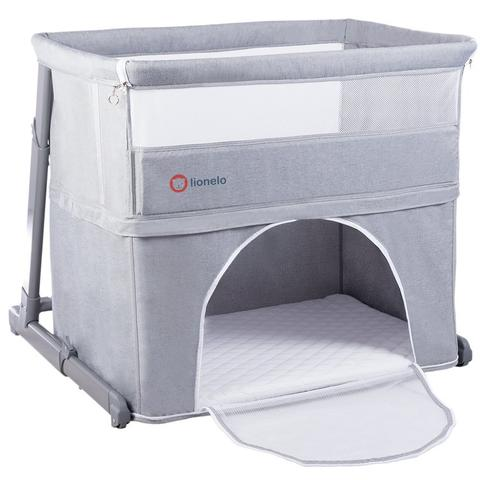 Lionelo - Patut 3 in 1 Co-Sleeper Toon Grey