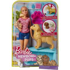 Mattel BRB Barbie GAMA FAMILY - Barbie cu Catelusii