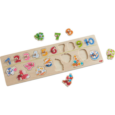 HABA Joc tip puzzle Animals by Numbers 20 piese