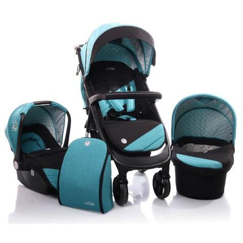 Carucior Copii 3 in 1 Cangaroo Noble Blue