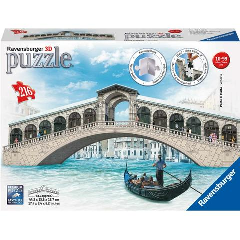Ravensburger Puzzle 3d Podul Rialto, 216 Piese