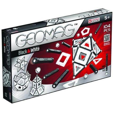Geomag Set Constructie Magnetic Black and White 104