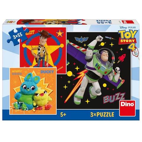 Dino Toys Puzzle 3 in 1 - TOY STORY 4 (55 piese)