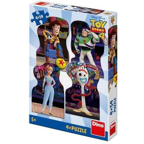 Dino Toys Puzzle 4 in 1 - TOY STORY 4 (54 piese)