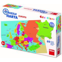 Puzzle geografic - Harta Europei (69 piese)