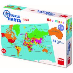 Puzzle geografic - Harta Lumii (82 piese)