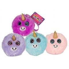 Jucarie Squishy pufoasa din plus - Unicorn Neon