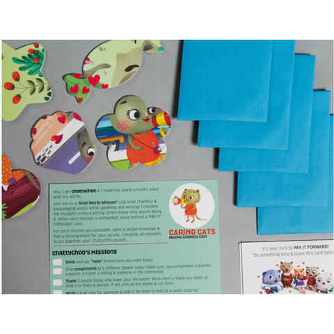 Chalk and Chuckles Puzzle cu surprize - Chatty Choo (100 piese)