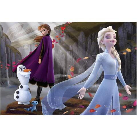 Dino Toys Puzzle 2 in 1 - Frozen II (77 piese)