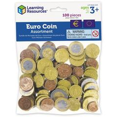 Learning Resources Set de monede de jucarie (Euro)
