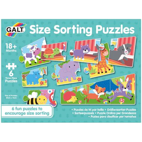 Galt Set 6 puzzle - Animalute jucause (3 piese)