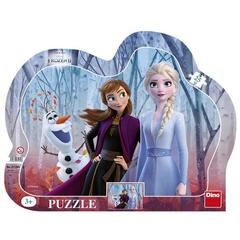 Dino Puzzle cu rama - Frozen II (25 piese)