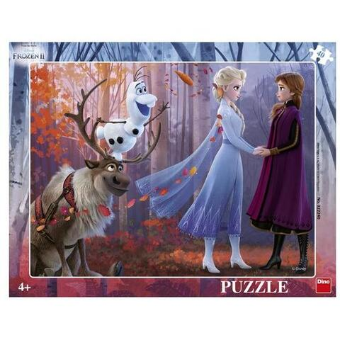 Dino Puzzle cu rama - Frozen II (40 piese)