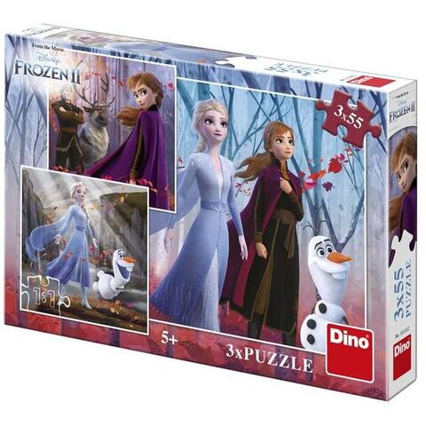 Dino Toys Puzzle 3 in 1 - Frozen II (3 x 55)