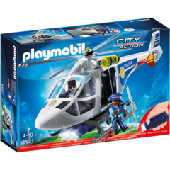 Elicopter de politie cu lumini