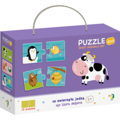 Duo Puzzle - Hrana animalelor (2 piese)