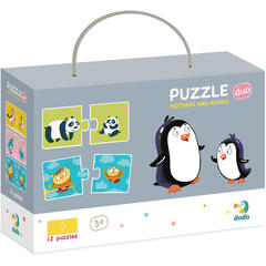 Duo Puzzle - Mama si puiul (2 piese)