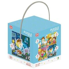 Puzzle 4 in 1 - Activitatile zilnice (12, 16, 20, 24 piese)