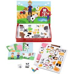 BIGJIGS Toys Joc magnetic - Distractie in livada