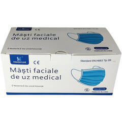 Set 50 masti faciale de uz medical tip IIR