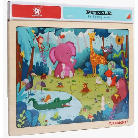 Topbright Puzzle din lemn - Animalute jucause