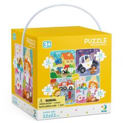 Dodo Puzzle 4 in 1 - Meserii (12, 16, 20, 24 piese)