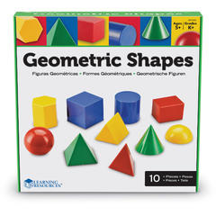 Learning Resources Corpuri geometrice din plastic - 10 piese