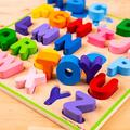 BIGJIGS Toys Puzzle colorat - alfabet