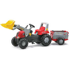 Rolly Toys Tractor cu pedale Rolly Junior (cu remorca si cupa)