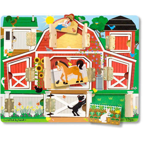 Melissa&Doug Puzzle magnetic Ascunde si descopera (9 piese)