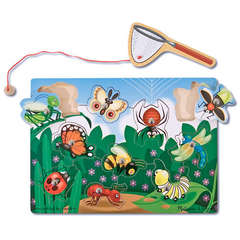 Puzzle lemn magnetic Prinde insectele (10 piese)