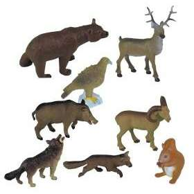 MINILAND Animale din padure set de 8 figurine