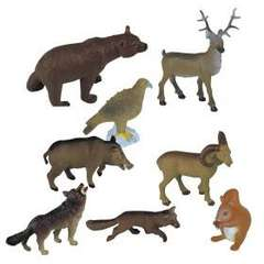 Animale din padure set de 8 figurine