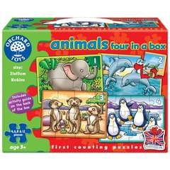 Set 4 Puzzle Animale (4, 6, 8 & 12 piese)
