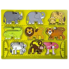 Melissa&Doug Puzzle in relief Animale de la Zoo Melissa and Doug