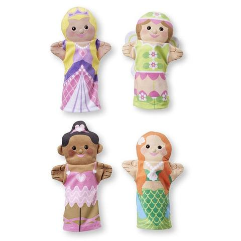 Melissa&Doug Set 4 papusi de mana Printese Melissa and Doug