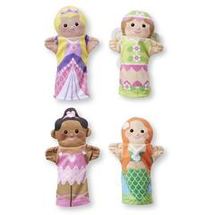 Set 4 papusi de mana Printese Melissa and Doug