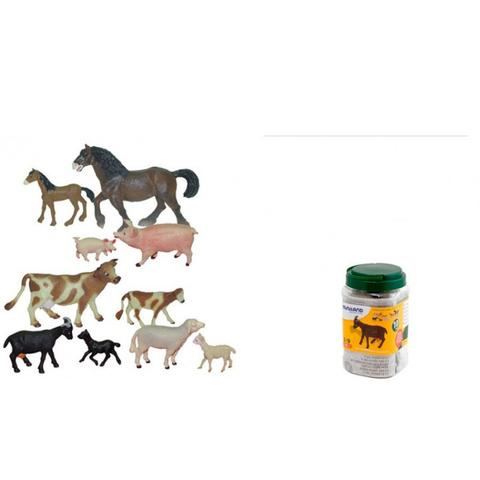 Animale domestice cu puii set de 10 figurine - Miniland