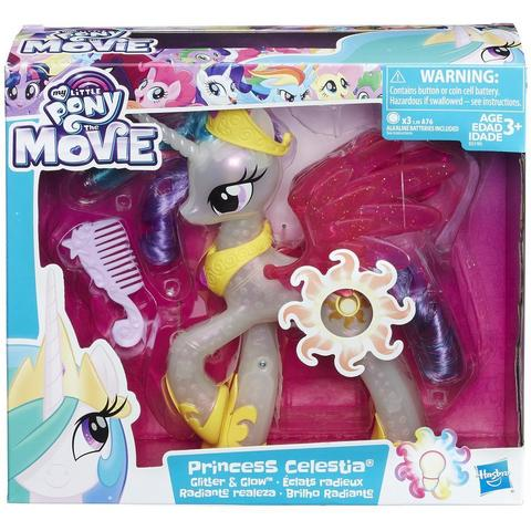 Hasbro Figurina My Little Pony the Movie Glitter and Glow Princess Celestia