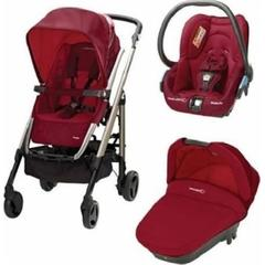 Carucior Trio Loola 2 Bebe Confort RASPBERRY RED