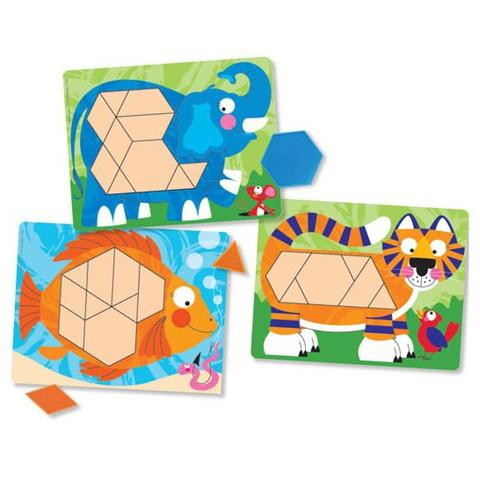 Melissa&Doug Set de sabloane: Animale