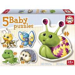 Puzzle Bebe cu Animale si insecte